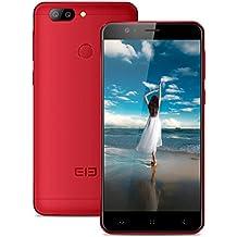 Elephone P8 mini 4G Smartphone Libre (4GB RAM + 64GB Rom, Dual Cámara 16 MP+13MP, Dual SIM Android 7.0 Teléfono Celular, MT6750T Octa-core 1.5GHz, Pantalla FHD 5.0'', Fingerprint GPS OTG) - Rojo