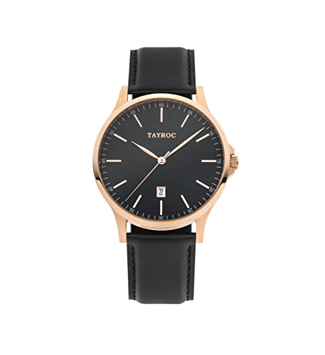 Tayroc Classic Black Rose Gold horloge TXM104