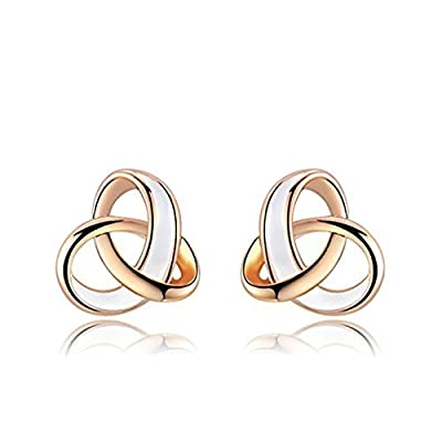 ROXI Women's Elegant 18ct Rose Gold Plated Drop of Water Oil Tricyclic Earrings