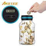 RAISSER® GBP Type : ABEDOE Electronic Digital Counting Money Saving Box Jar Bank LCD Display Coins Box Piggy Bank Safe for USD Euro GBP Money
