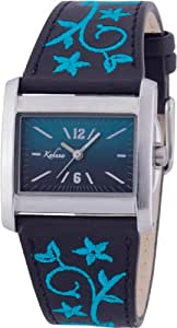 Kahuna Ladies Watch KLS-0137L with Turquoise Dial and Black Leather Strap