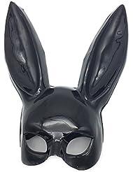 PromMask Mascara Facial Careta Protector de Cara dominó Frente Falso Discoteca Bar KTV Maquillaje Danza Conejo