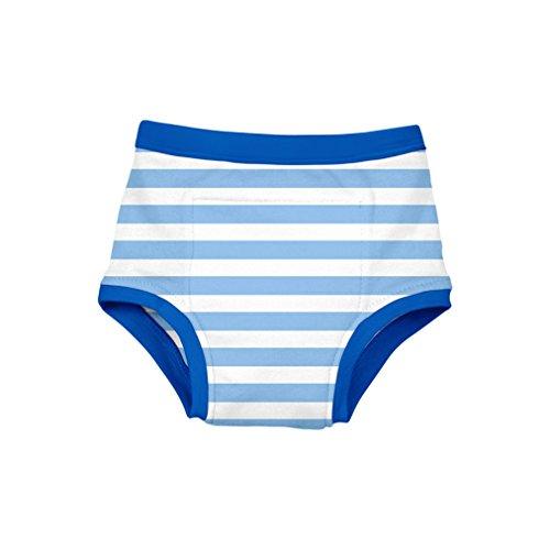 Green Sprouts d'entraînement Sous-vêtements, Bleu Rayures, 3-4 Ans