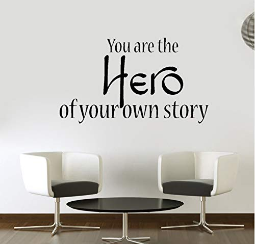 Sei ein Held deiner eigenen Geschichte Inspirierend Motivierend PVC Wandaufkleber Dekor 67x39cm