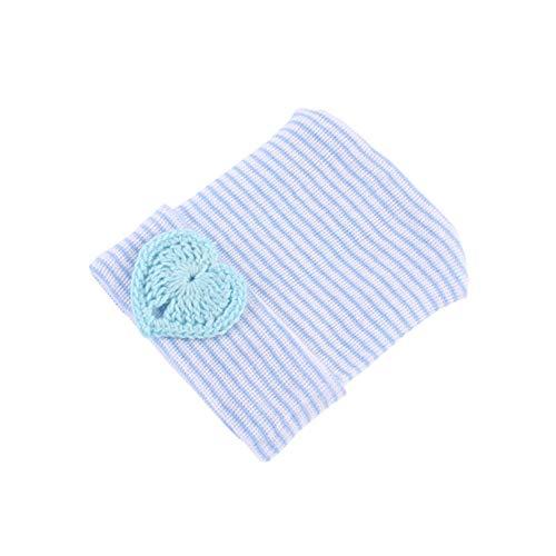 DvfeeL Neugeborene Säuglingsklinik Kappe gestrickte Baumwolle gestreift Herz Baby Mädchen Jungen Hüte (Baby Boy Beanie Krankenhaus)