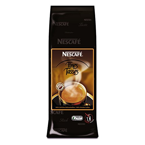 Nestlé NESCAFÉ Fines Tasses Füllprodukt Getränke Automaten löslicher Bohnenkaffee, 250 g