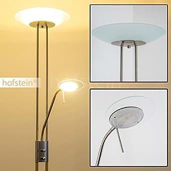 lampadaire sur pied led olmini chrom eclairage principal et liseuse intensit variable avec. Black Bedroom Furniture Sets. Home Design Ideas
