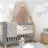 Saingace Kids Baby Bed Canopy Bedcover Sheer Mosquito Net Curtain Bedding Dome Tent