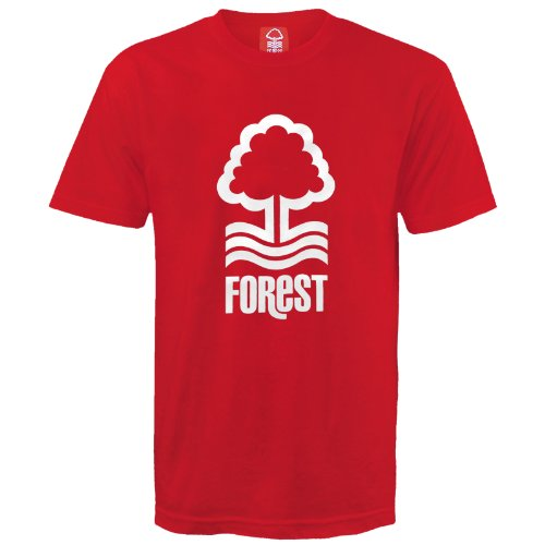 T-shirt originale Nottingham Forest FC con stemma - uomo - Rosso - Medium