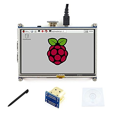 5 inch LCD 800*480 Resistive Touch Screen Display HDMI interface drivers provided For For Raspberry pi3/2 B/B+/A