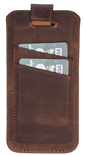 Solo Pelle kompatibel für das Apple iPhone X/XS Hülle Multi-CC Leder Handyhülle | Handytasche | Tasche | Schutzhülle | Ledertasche | Sleeve | Cover | Case | unterstützt Qi-Ladung in Vintage Braun