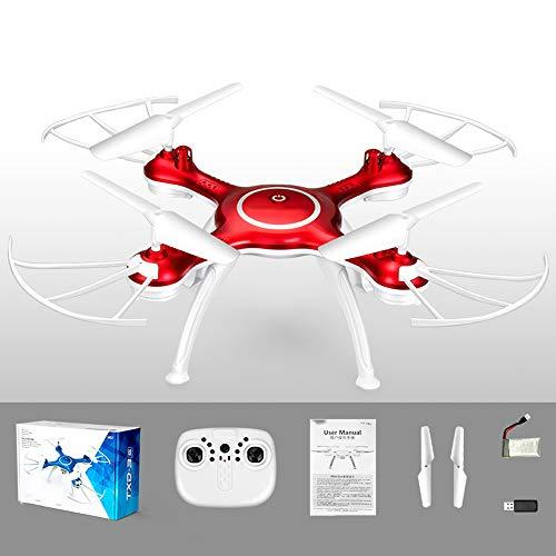 LUQ-DR Mini-Drohne Vier-Achsen-Flugzeug-Fernbedienung Flugzeugdach-Modus Sechs-Achsen-Gyro-Meter 2 Millionen Pixel HD-Kamera FPV-Bildsynchronisation Kinderspielzeug,Red