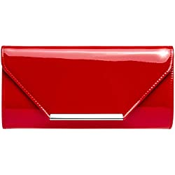 a03a6ab32 Caspar TA435 Bolso de Mano XL de Fiesta/Clutch de Charol para Mujer, Color