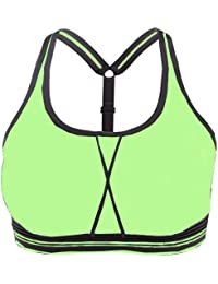 faa143b8237a8 Women s Yoga Sports Bra for Women Force Cross Back Running Gym Gorge Gym Crop  Top Padded Bras Athletic Sports Vest Underwear (Pack…