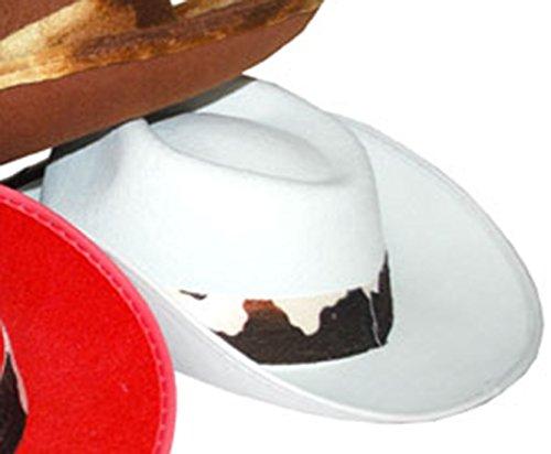 Confettery - Cowboyhut mit Kuhfell Imitat Band - -