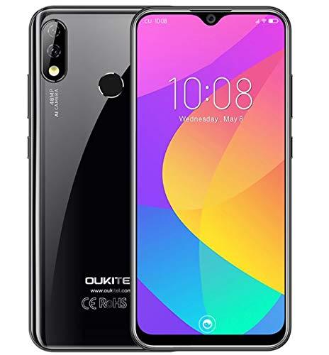 OUKITEL Y4800 (2019) Handy ohne Vertrag, 48 MP + 5 MP + 16 MP AI-Kamera, Android 9.0 4G Smartphone, 6,3-Zoll-Wassertropfen-FHD + Bildschirm, Helio P70 Octa Core 6 GB RAM + 128 GB ROM, 4000mAh Akku
