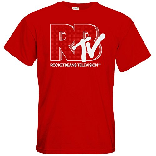 getshirts - Rocket Beans TV Official Merchandising - T-Shirt - MTV Style Dotted Red