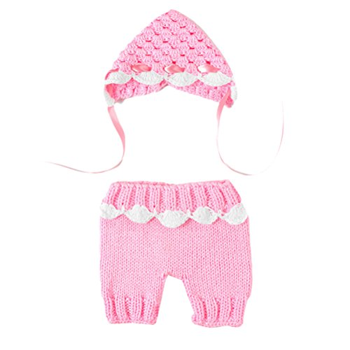 Zhhlaixing Cute Baby Infant Pink Laciness Costume Photo Photography Prop 0-3 Months Newborn