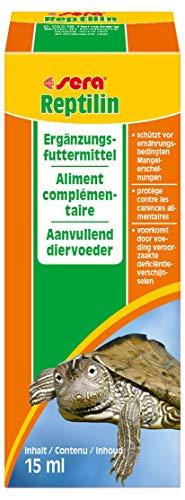 sera 02810 reptilin 15 ml  / Multivitamintropfen für Reptilien, Schmackhafte Emulsion aus 12 wertvollen Vitaminen zum Auftropfen auf das Futter oder fürs Trinkwasser