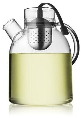 Menu Bouilloire Théière en verre avec infuseur à thé 1,5L