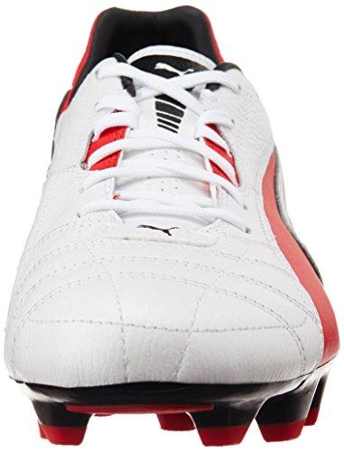 Puma Momentta FG 102676 Herren Fußballschuhe Weiß (metallic white-high risk red-black 05)