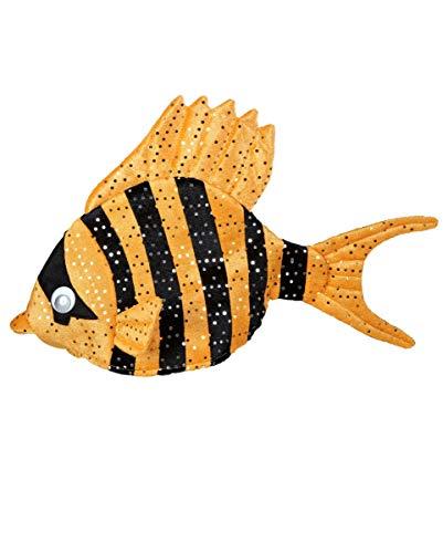 Horror-Shop Orange Fisch-Mütze | One Size