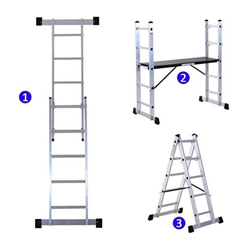 Escalera Andamio multiusos, de aluminio.