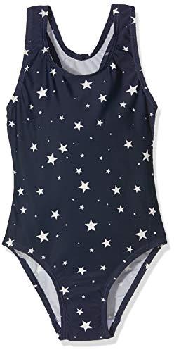 Sanetta Mädchen Swimsuit Badeanzug, Blau (Ueprint 50209), (Herstellergröße: 116) - Mädchen Badeanzug Bein