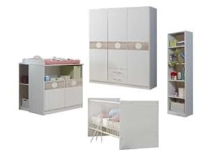 wimex babyzimmer set kimba bestehend aus kleiderschrank wickelkommode babybett unterschrank. Black Bedroom Furniture Sets. Home Design Ideas
