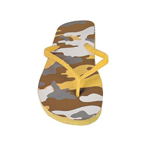 2073 Ciabatte infradito donna fantasia militare 4 colori pantofole mare in gomma. MWS Beige