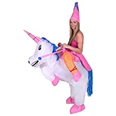 Idea Regalo - Bodysocks® Costume Gonfiabile da Unicorno per Adulti