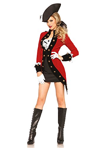 Leg Avenue 85386 - Rebel Red Coat Damen kostüm, Größe Medium (EUR 38), Damen Karneval Kostüm Fasching