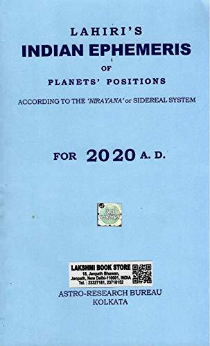 Lahiri Indian Ephemeris - 2020