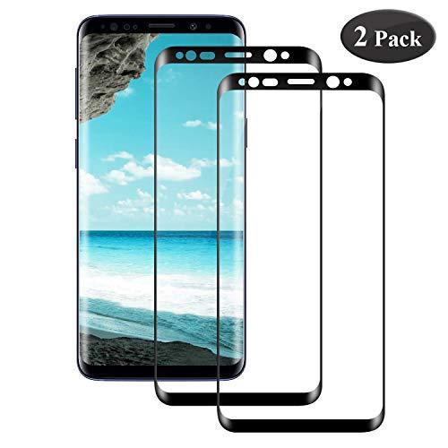 Seomusen Panzerglas Schutzfolie kompatibel mit Samsung Galaxy S8 Plus/S8+ [2 Stück], [9H Härte] [Anti-Kratzen] [Blasenfrei] [2.5D Rand] [HD Ultra Klar],Panzerglasfolie für Samsung Galaxy S8 Plus