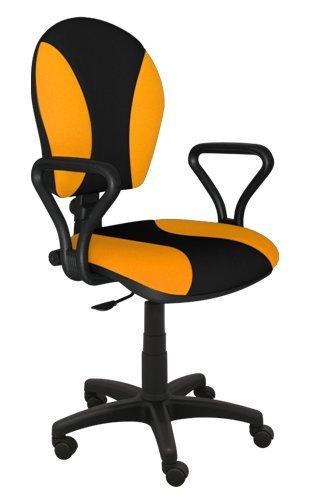 Best For Office Bürostuhl Höhenverstellung Schreibtischstuhl MARKO Modell (GELB-SCHWARZ)