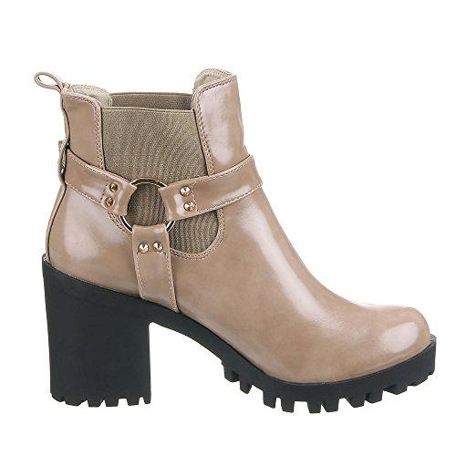 Chaussures, iR - 508, bottines Marron - Sable