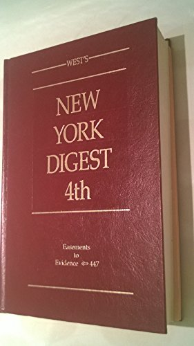 West's New York Digest 4th Volume 20 Easements - Evidence 447