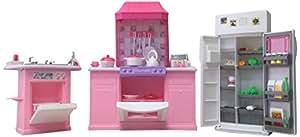 Buy Gloria Barbie Size Dollhouse Furniture Kitchen Set Online At