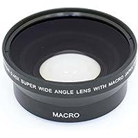 vhbw Weitwinkel Vorsatzlinse Objektivgewinde 62mm, Faktor 0,45x für Kamera Agfa, Agfaphoto, Canon, Casio, Fuji, Fujifilm, Kodak, Minolta.
