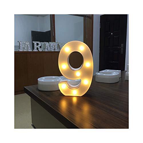 LED Buchstabe Lichter Alphabet, Warmweiß Nachtlampe für Wohnkultur Weihnachten Geburtstag Hochzeit Engagement Jubiläum Party (9) -