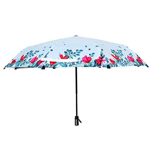 GONGFF Regenschirm \u0026 Falten Falten Sonne UV-Schutz Sonnenschutz Regen Dual-Use-Student (Farbe: A)