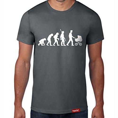 //Original T-Shirt - 16 Farben, XS-4XXL//Männer | Geschenk | Geburtstag | Vatertag | Weihnachten #PAPA Collection Dark Grey S (Schwangere Halloween Ideen)