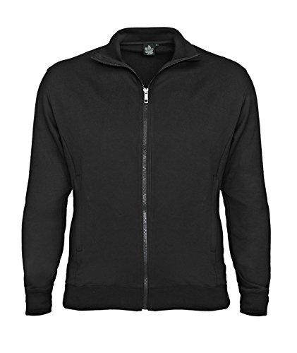 Ahorn Sportswear Basic Trainer Jacke schwarz für Männer bis Übergröße 10XL, Größe:3XL - Trainer-jacke