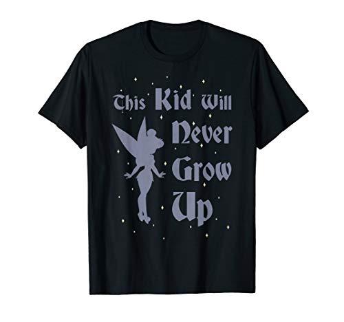 Disney Peter Pan Tinkerbell Never Grow Up Graphic T-Shirt - Peter Pan Shirt Disney
