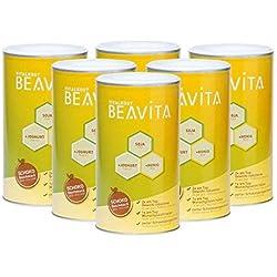 BEAVITA - Vitalkost Chocolat | Poudre 6 x 500g | Substitut de repas minceur | Shake délicieux accompagnant un régime | Sans gluten, sans substitut de sucre