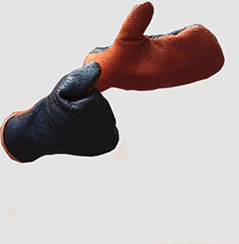 re Tiere Greifen Biss Anti-Punktion Natur Garten Handschuhe Braun + Schwarz,Brown+Black-M (Tier Handschuhe Braun)