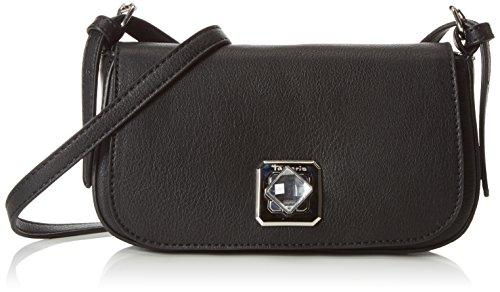 Tamaris - INGRID Baguette Bag, Borsa baguette Donna Nero (Nero (nero))