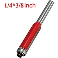 godbless Router puntas 1pieza doble schneidigen enrasar con rodamiento de bolas madera Schneider para trimmmasc (Sunshine (Red), Rojo