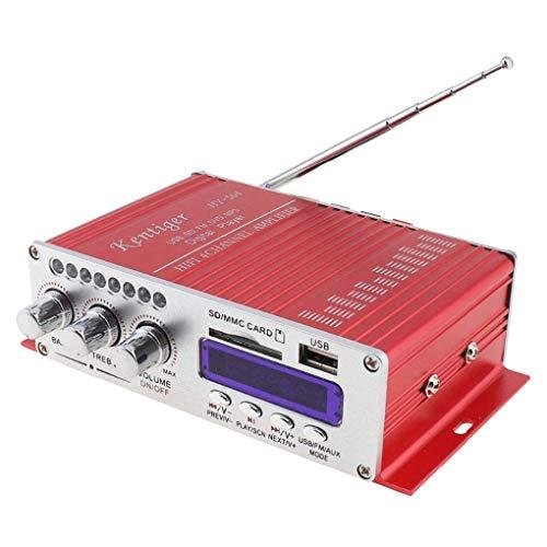 DollaTek Kentiger HY-504 Car Audio Amplificador Digital de Alta Potencia 4CH 160W Reproductor de Alta fidelidad MP3
