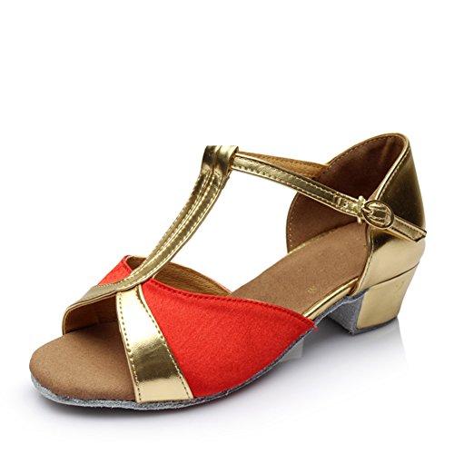 Scarpe da ballo latino per le ragazze/Bambini con moderne scarpe da ballo/Scarpe inferiori molli C